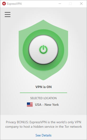 ExpressVPN User Interface