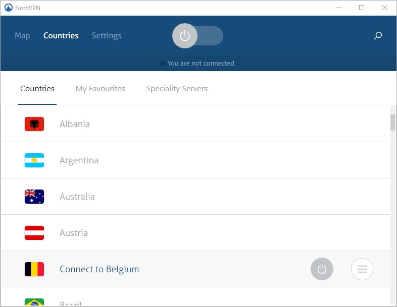 NordVPN – List of Available Server Locations