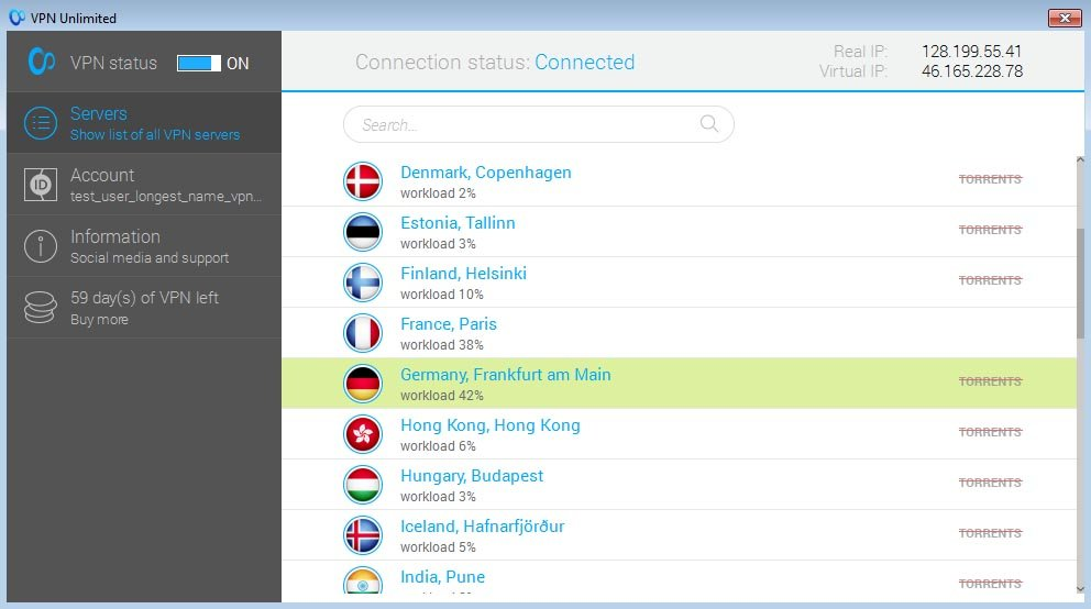 VPN Unlimited Server Selection
