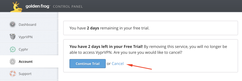 How to cancel VyprVPN Trial