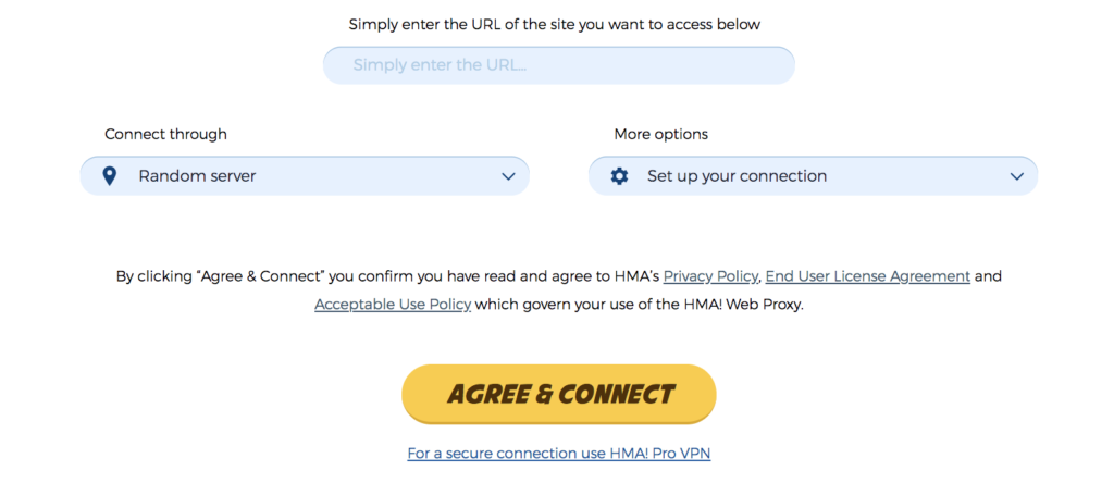 HideMyAss Web Free Proxy