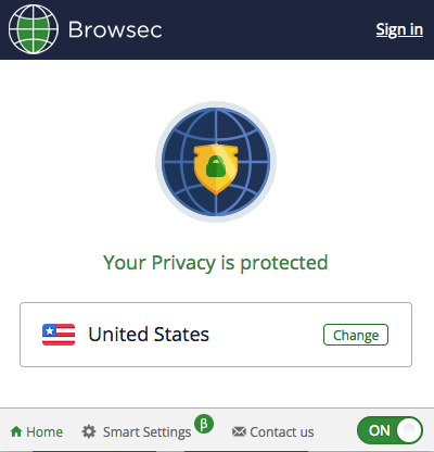 Browsec VPN Chrome Extension