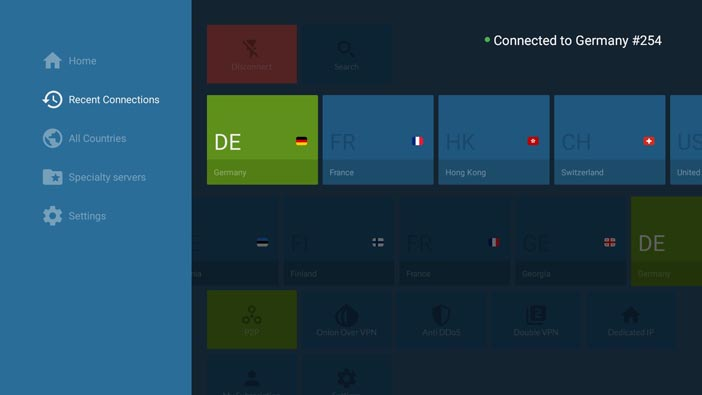NordVPN App for Android TVs
