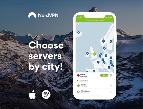 NordVPN Adds New Feature to iOS & macOS Apps: City Selection