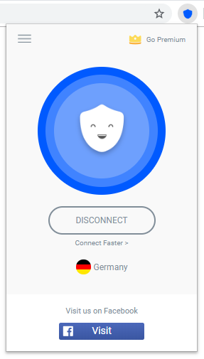 Betternet Free VPN Interface